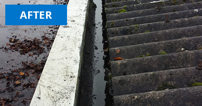 Gutter Vac Cleaning Services After Facilities Management Cleaning