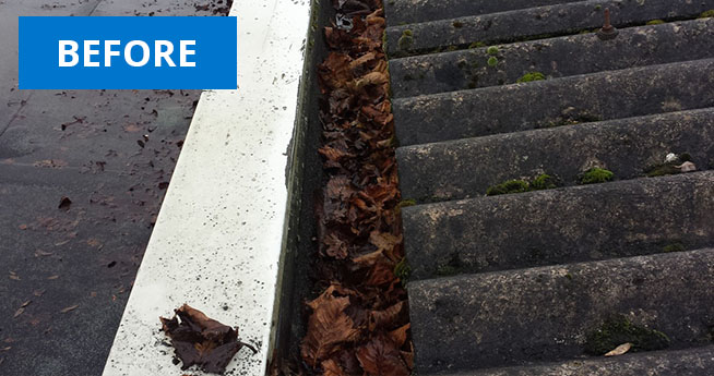 Gutter Vac Cleaning Services Before Facilities Management Cleaning